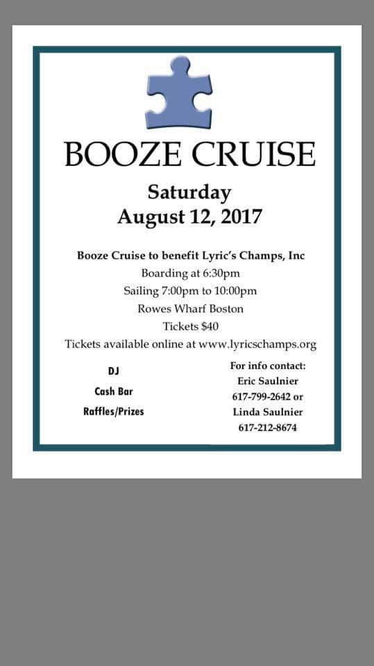 Lyric lyric org : Booze Cruise To Benefit Lyric's Champs Inc | The Somerville News ...